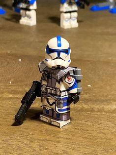 Lego Custom Minifigures, Lego Minifigs, Star Wars Minifigures, Lego Custom Clones, Lego Clones, Lego Star Wars, Star Wars Clone Wars, Lego Ww2, Lego Army