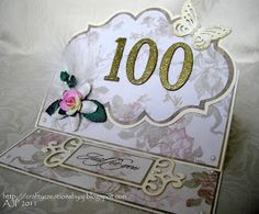 100th Birthday easel card using nesties