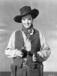 """MONTANA BELLE (1952) - Jane Russell as """"Belle Starr"""" - RKO-Radio Pictures - Publciity Still."""