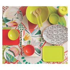 JOELLE Patterned melamine rectangular tray 35x25cm   Buy now at Habitat UK