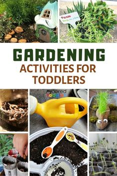 Engaging and fun gardening activities for toddlers both outdoors and indoors - My Bored Toddler - gardening for 1 year olds, 2 year olds and 3 year olds - a great outdoor activity for toddlers to get them in the garden! Spring Activities for Kids Outdoor Activities For Toddlers, Activities For 1 Year Olds, Outside Activities, Nature Activities, Spring Activities, Preschool Activities, Educational Activities, Garden Ideas For Toddlers, Nursery Activities