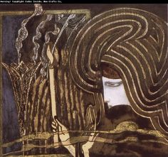 Soul Searching Jan Toorop 1893 watercolour