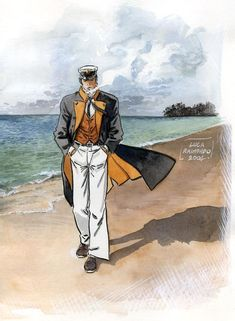 Corto Maltese, héros de la bande dessinée du même nom, créée en 1967 par le dessinateur et scénariste italien Hugo Pratt (1927-1995).