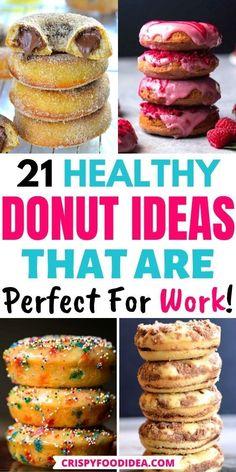 Healthy Doughnuts, Baked Doughnut Recipes, Keto Donuts, Diy Donuts, Baked Doughnuts, Delicious Donuts, Homemade Donuts, Snack Recipes, Dessert Recipes