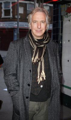 """Alan Rickman arrives for the charity performence of """"Motherland"""" at The Young Vic theatre on of March 2008 in London England Alan Rickman Always, Alan Rickman Severus Snape, Harry Potter Films, Harry Potter Love, Turn To Page 394, Young Vic, Miss U So Much, British Actors, Best Actor"""