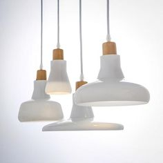 K - FARM RENO, KITCHEN White Milky Glass Shade LED Pendant Light