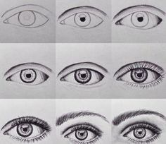 How to draw an eye by ^ kristen ^