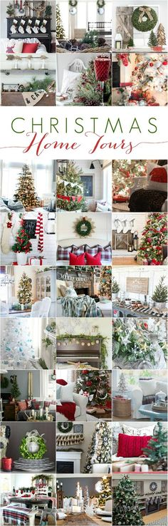 Christmas Home Tour Take a stroll through this beautiful, cozy Christmas Home tour featuring natural colors with pops of red!Take a stroll through this beautiful, cozy Christmas Home tour featuring natural colors with pops of red! Cottage Christmas, Noel Christmas, Primitive Christmas, Country Christmas, Winter Christmas, Christmas Crafts, Woodland Christmas, Nordic Christmas, Christmas Mantles