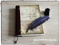 Sketchbook, book of shadows, writing journal, diary, notebook with a vintage look by JournalShop on Etsy https://www.etsy.com/listing/269925920/sketchbook-book-of-shadows-writing