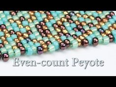 LES BASES : TISSAGE EN PEYOTE PAIR - YouTube