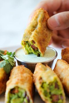 Avocado Egg Rolls | 21 New Year's Eve Recipes | Food Ideas to Serve at Your Cocktail Party | https://homemaderecipes.com/new-years-eve-recipes/