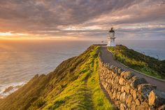 In midst of beauty danger lurks for lighthouse keepers. Example - New Zealand's Cape Reinga lighthouse. In a mine drifted onto the mainland opposite the lighthouse. Lighthouse Keeper, Top Destinations, Road Trippin, School Holidays, Art Inspo, New Zealand, Cape, Country Roads, Canvas Prints