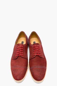 The Best Men's Shoes And Footwear :   PS PAUL SMITH Burgundy & turquoise nubuck McROY brogues    -Read More –   - #Men'sshoes  https://fashioninspire.net/mens/mens-shoes/the-best-mens-shoes-and-footwear-ps-paul-smith-burgundy-turquoise-nubuck-mcroy-brogues/