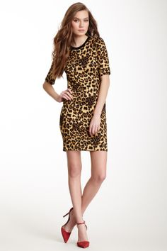 Eight Sixty Animal Print Short Sleeve Dress on HauteLook