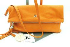 Borsa Pochette borsetta Tracolla in pelle JackyCeline Art B210 colore Arancio