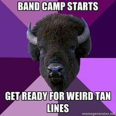 Marching Band Problems. this is sssoooooo true. i went from soccer tan lines to marching band tan lines. sock tan lines :3