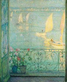 Henri Eugène Augustin le Sidaner, LA FENETRE, LE CROISIC, 1924
