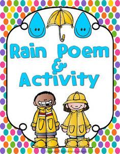 """Classroom Freebies: Celebrate National Poetry Month with An April Showers """"Rain"""" Poem and Writing Activity"""