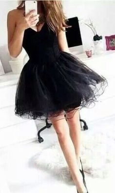 Fashion black sweetheart short mini homecoming dress, prom dress