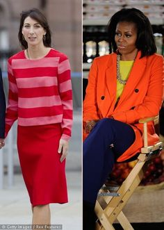 Samantha Cameron Michelle Obama First Lady Fashion Colour Block 03.12