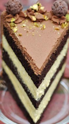 Black Truffle-Pistachio Chocolate Cake Recipe
