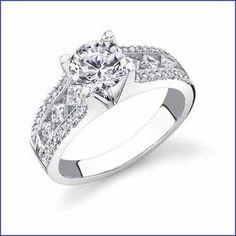Gregorio 18K WG Diamond Engagement Ring R-348-E