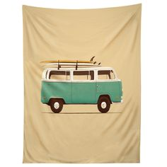 Florent Bodart Famous Cars 5 Blue Van Tapestry | DENY Designs Home Accessories