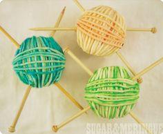 Yarn Ball Cupcakes via- EAT