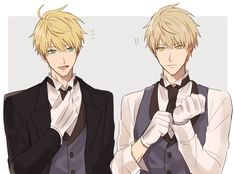 Shizuo sorta looks like the earl from the manga the earl and the fairy Boys Anime, Hot Anime Boy, Chica Anime Manga, Manga Boy, Anime Kawaii, Anime Siblings, Fate Stay Night, Butler Anime, Fate Anime Series