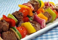 Steak Vegetable Kebabs Stock Photo (Edit Now) 15584638 Easy Weeknight Meals, Quick Easy Meals, Vegetable Kebabs, Pesto, Fat Burning Foods, Healthy Eating Recipes, Mediterranean Recipes, Grilling Recipes, Barbecue