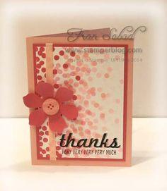 "stampersblog: Dotty Angles  Stamp Sets - Dotty Angles, Fabulous Four Cardstock - Blushing Bride, Strawberry Slush, Whisper White Ink - Jet Black Stazon, Strawberry Slush, Blushing Bride, Pink Piouette Etc - Fun Flower punch, 1/4"" Cotton ribbon, Soft Subtle button  #SU, #DottyAngles"