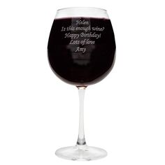 Personalised Bottle of Wine Glass Valentines Day Gift