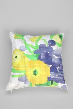 Christine B. Tillman Yellow Flowers Pillow - Urban Outfitters