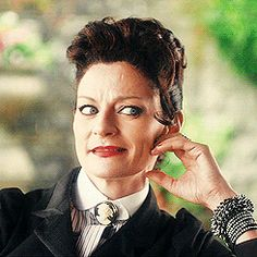 "Speaking in Cardiff, Michelle Gomez says: ""Things have been a little beige since I left Missy behind, so I'm delighted to be putting my lippie back on. I'm positively dying to see The Doctor again!"""
