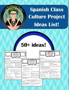 More than 50 ideas for your students to help them choose a topic for their Spanish Speaking Country Culture Project. Free Lessons For Spanish Teachers. High School Spanish, Elementary Spanish, Ap Spanish, Spanish Culture, Spanish Teacher, Spanish Classroom, How To Speak Spanish, Learn Spanish, Spanish Alphabet