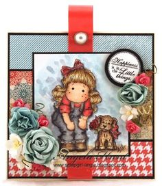TILDA WITH LACE JEANS AND 404 MINI WILMA WITH ROSE