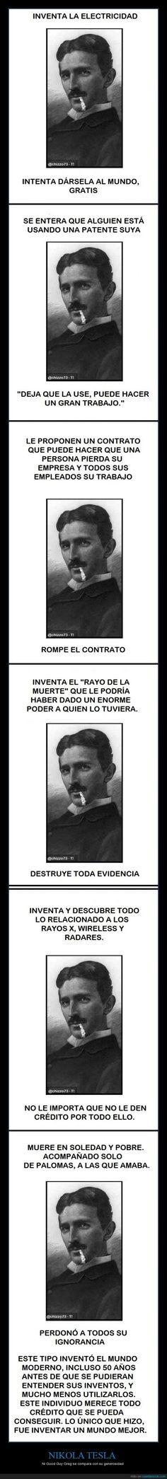NIKOLA TESLA...Para mi, el científico más extraordinario que ha existido! Nikola Tesla, Im Moving On, Curious Facts, Smart Quotes, Knowledge Quotes, History Facts, Fun Facts, Science, Memes