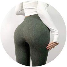 aa5e68144a3d Women High Elastic Fitness Leggings Yoga Pants Slimwear Sports Pants,Army  Green,XS,