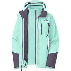 You can wear The North Face Women's Adele Triclimate Jacket year-round because the fleece liner is removable. Wear the fully taped HyVent shell by itself on rainy and snowy days, and keep the midweight fleece liner nearby in case it gets chilly. The liner is also great on brisk hikes from spring to fall, and you can combine the two jackets for winter ski sessions. The Adele also features underarm zippers for ventilation, a removable hood, hook-and-loop cuffs, and a drawcord at the hem for a…