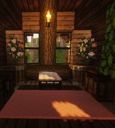 mined crafted — cozy and comfy~! - Mine Minecraft World Minecraft Cottage, Cute Minecraft Houses, Minecraft Plans, Minecraft Room, Minecraft House Designs, Minecraft Blueprints, Minecraft Crafts, Minecraft Furniture, Minecraft Stuff