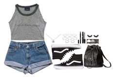 """""""~Jet Black Heart - 5 Seconds Of Summer~"""" by tiffanymejia ❤ liked on Polyvore featuring Vans, H&M, Forever 21, Tiffany & Co. and Stila"""