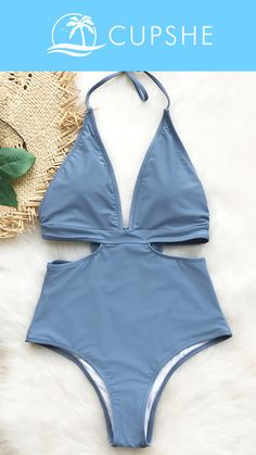 NEW ARRIVAL! A super elegant one-piece swimsuit can let you show the lumbar curve with good charming, smooth add glamour. Cupshe City Of Sky Halter One-piece Swimsuit, classic and cute, HAVE it, today!
