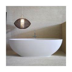 Ceramica-Globo Bowl+ Freestanding Bathtub (378.785 RUB) ❤ liked on Polyvore featuring white