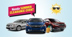 The deals during the Honda Summer Clearance Event are just one more reason to love summer. Stop by Waldorf Honda today.  www.waldorfhonda.com