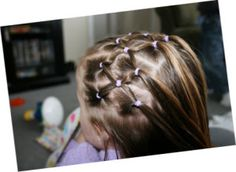 Little Girl Hair Styles - This would be cute to do at Camp!