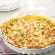 HEALTYFOOD Diet to lose weight WeightWatchers.fr : recette Weight Watchers Tarte saumon et poireau Slimming Recipes, Ww Recipes, Light Recipes, Cooking Recipes, Healthy Recipes, Salmon Recipes, Quiches, Salty Foods, Cooking Light
