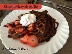 The Best Chocolate Chocolate Waffles- All She Cooks