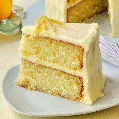 Moist lemon velvet cake