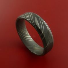 Damascus Steel Ring Acid Finish Wedding Band by StonebrookJewelry, $318.92