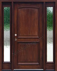 Exterior 2 Panel Doors With Sidelights Flemish Gl Entry In 2018 Pinterest And